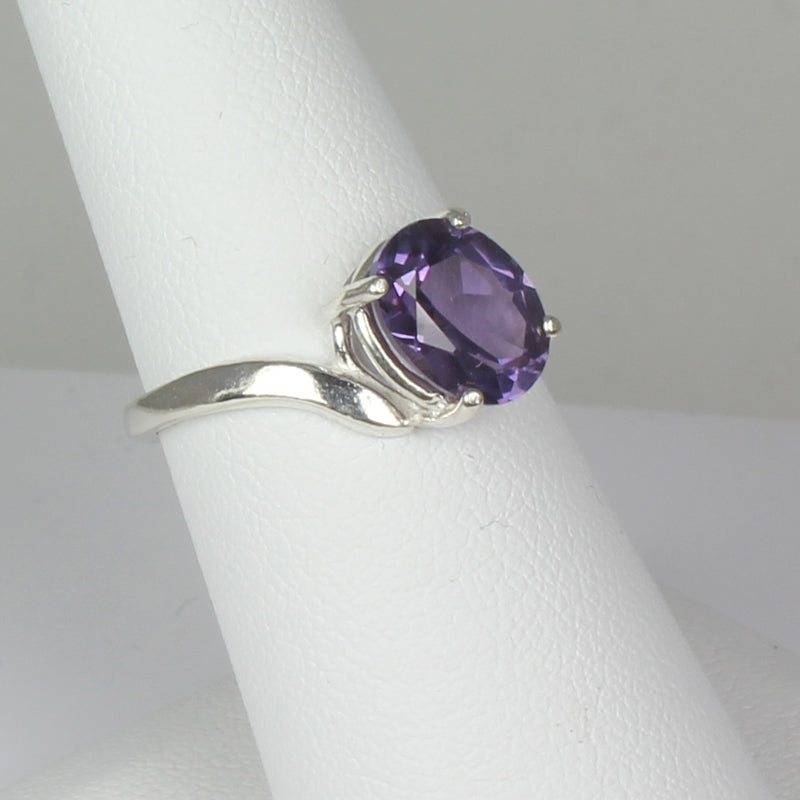 Color-Changing Alexandrite 925 Sterling Silver Ring / Twist-Style