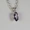 Color-Changing Alexandrite Necklace 925 Sterling Silver / Marquise-Shaped