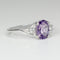 Natural Brazilian Amethyst Ring 925 Sterling Silver / Oval-Cut