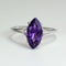 Natural African Amethyst Ring 925 Sterling Silver / 2.7 Ct.