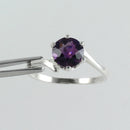 Natural African Amethyst Ring 925 Sterling Silver / Round-Shaped