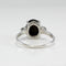 Genuine 6-Ray Black Star Sapphire Ring 925 Sterling Silver / Mystic Topaz Accents
