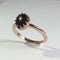 Genuine Black Star Sapphire Ring Rose Gold / Crown-Style