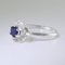Blue Sapphire Ring 925 Sterling Silver / Flower-Style