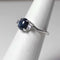 Genuine Blue Star Sapphire Ring 925 Sterling Silver / Natural Tanzanite Accents