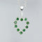 Emerald Necklace 925 Sterling Silver / Heart-Shaped Pendant