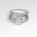 Diamond Engagement Set 925 Sterling Silver / Round-Shaped