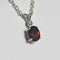 Natural Garnet Necklace 925 Sterling Silver / Genuine Sapphire Accent / Oval-Shaped