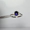 Natural Iolite Ring 925 Sterling Silver / Oval-Shaped Cabochon