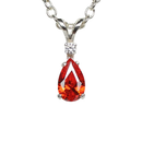 Mexican fire opal necklace 925 sterling silver