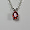 Mexican Fire Opal Necklace 925 Sterling Silver / Oval-Shaped