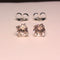 Natural Morganite Sterling Silver Stud Earrings / Round-Shaped