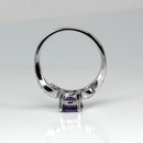 Natural African Amethyst Ring 925 Sterling Silver / Bypass-Style