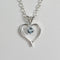Natural Aquamarine Necklace 925 Sterling Silver / Heart-Shaped Pendant