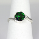 Ethiopian Opal Ring 925 Sterling Silver / Play of Color Opal
