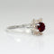 Ruby Ring with Champagne Diamonds Accents 925 Sterling Silver