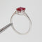 Classic Ruby Ring 925 Sterling Silver / Oval-Cut