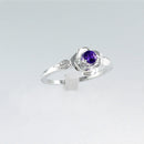 Blue Sapphire Ring 925 Sterling Silver / Rose-Shaped