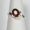 Natural Spessartite Garnet Ring 925 Sterling Silver / Bypass-Style