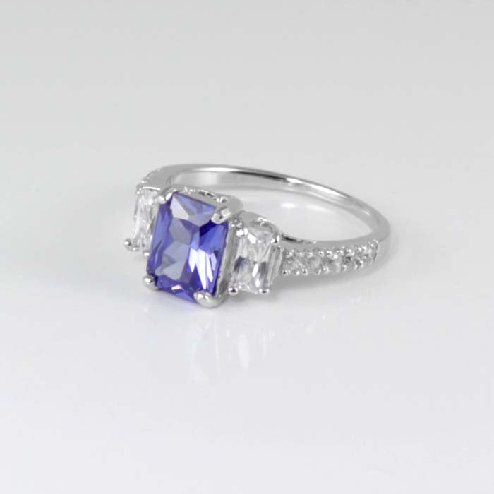 Tanzanite Ring 925 Sterling Silver / 3.5 Ct Cocktail Ring