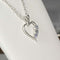Natural Tanzanite Necklace 925 Sterling Silver / Heart-Shaped Pendant