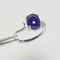 Natural Denim Lapis Lazuli Ring 925 Sterling Silver / Oval-Shaped