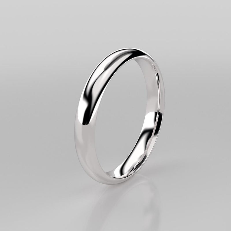 Wedding Band 925 Sterling Silver Ring / Simple Wedding Band for Women