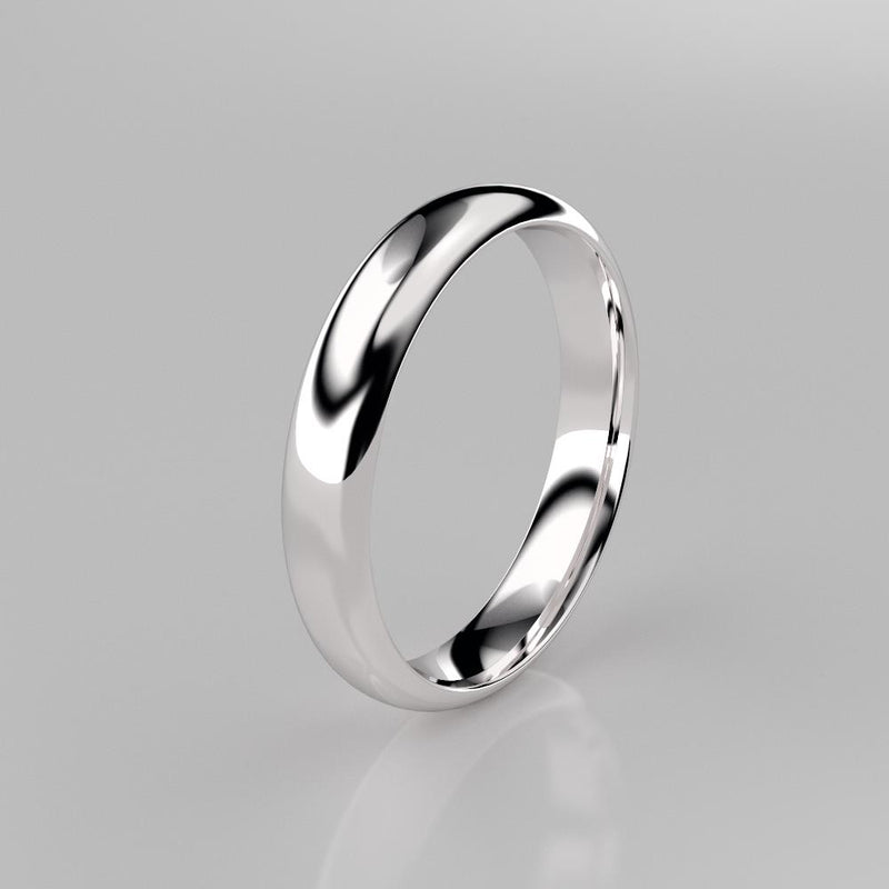 Wedding Band 925 Sterling Silver Ring / Simple Wedding Band