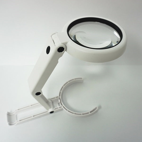 Folding Tabletop & Hand Held LED Magnifier