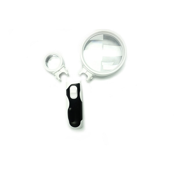 Hand Held LED Magnifier with Detachable Lens