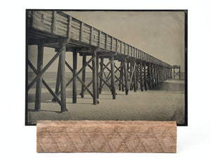 Wood Pier - Original Plate, 5x7 Inches