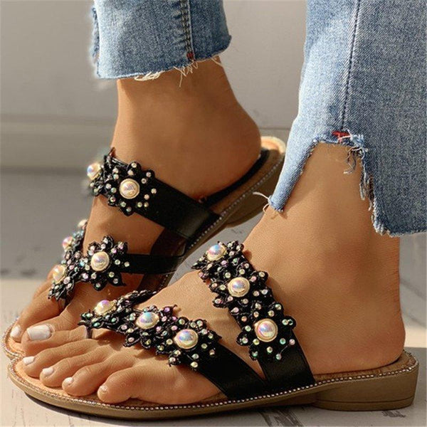 Women Casual Summer Daily Flower Comfy Slippers