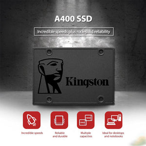SSD Kingston Sata (120,240,480 e 960GB) A400 SATA III, Original