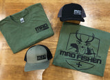MAD Fishen Army Green Dual Logo T-shirt