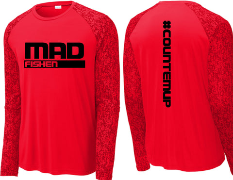 Mad Fishen Logo Fishing shirt, Red