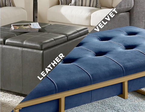 2020 iNSPIRE Q Leather and Velvet furniture collection