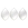 3-Piece Tear Drop Wall Mirror