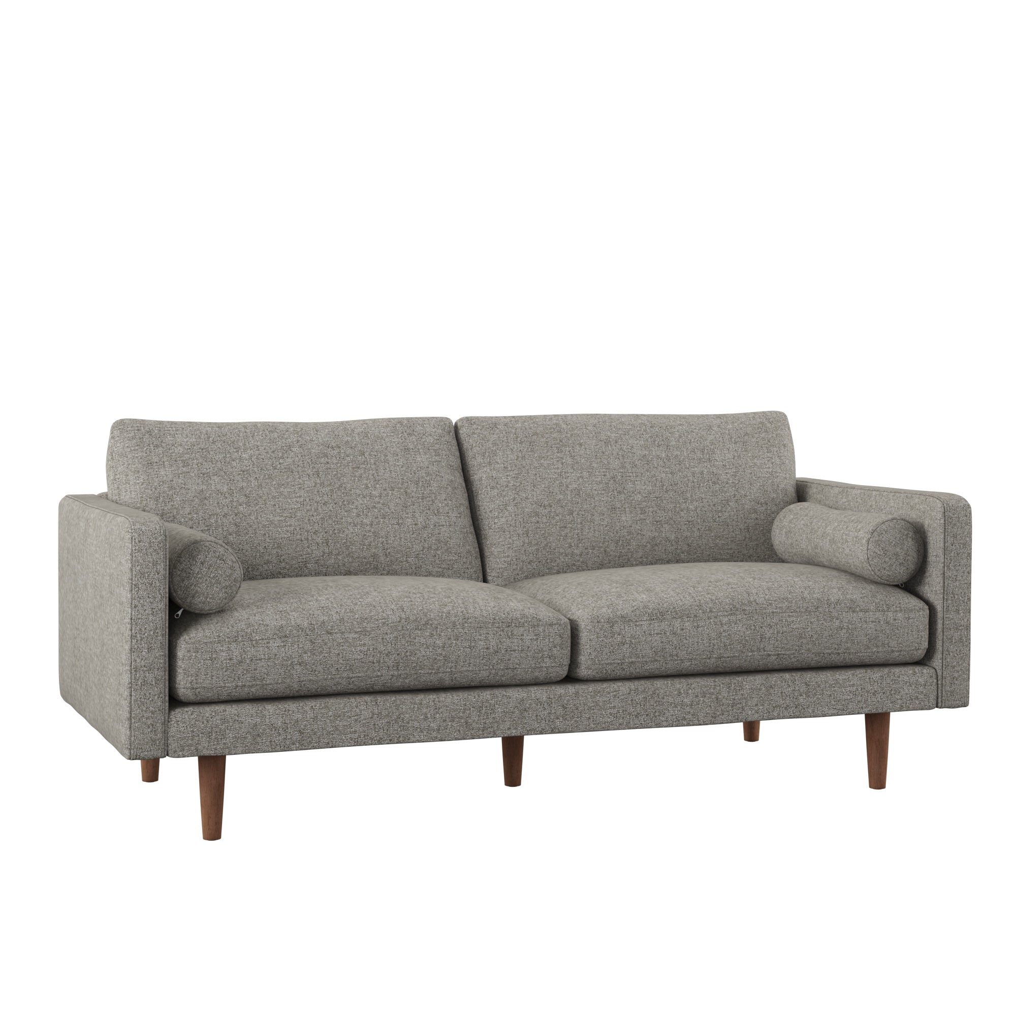 Mid-Century Tapered Leg Sofa with Pillows - Grey