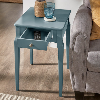 1-Drawer Storage Side Table - Blue