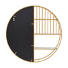 Gold Finish Wall Mirror with Shelf
