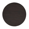 Dark Brown Reclaimed Wood Drum Shaped Coffee Table