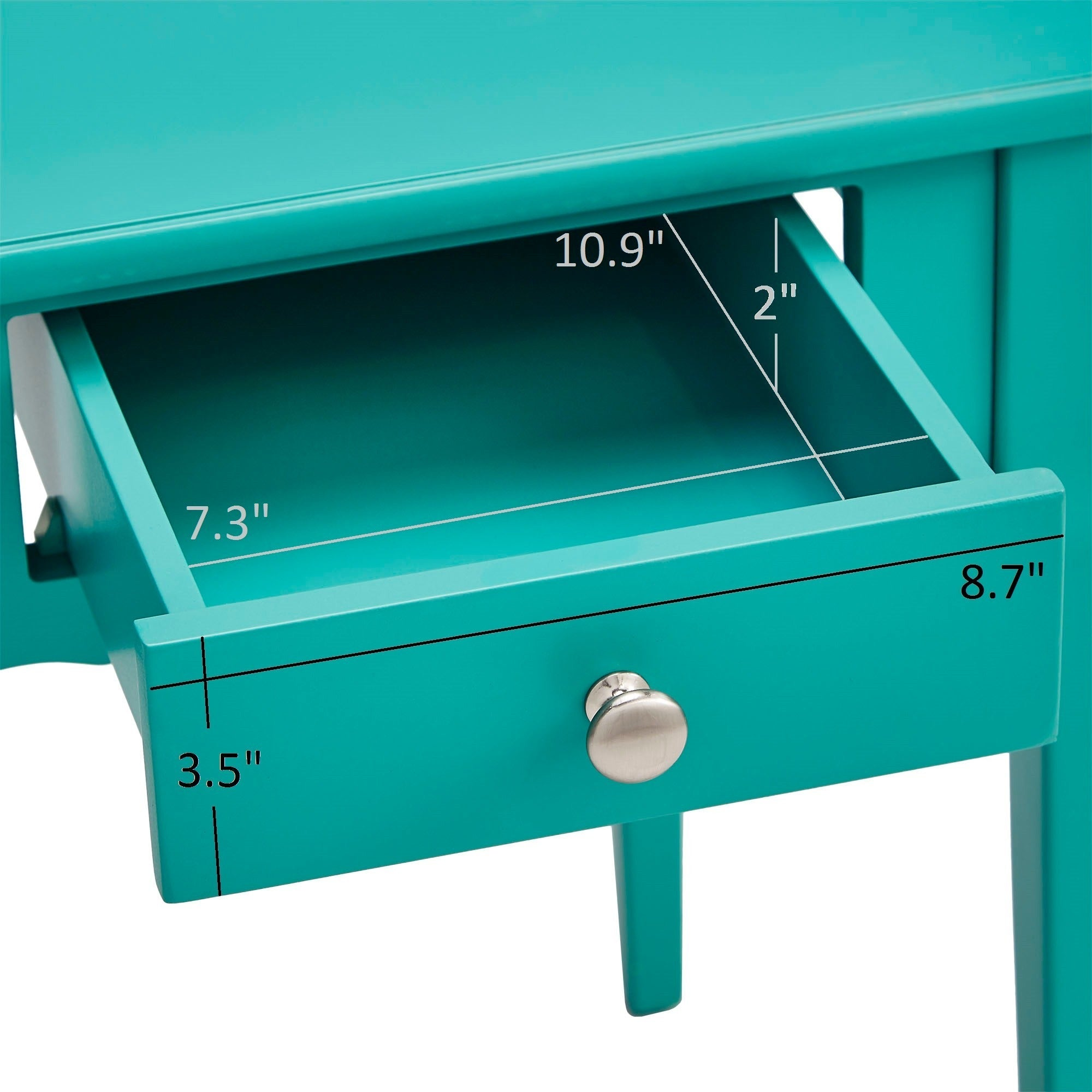 1-Drawer Storage Side Table - Espresso