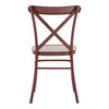 Antique Berry Red Finish Metal Dining Chairs (Set of 2)