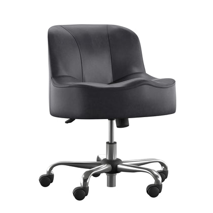 Adjustable Swivel Modern Accent Chair with Casters