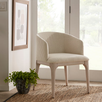 Beige Heathered Dining Chair