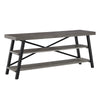 Rustic X-Base 60-inch TV Stand - Grey Finish