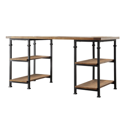 3-Piece Desk and Bookcase Set - 26-inch Bookcases
