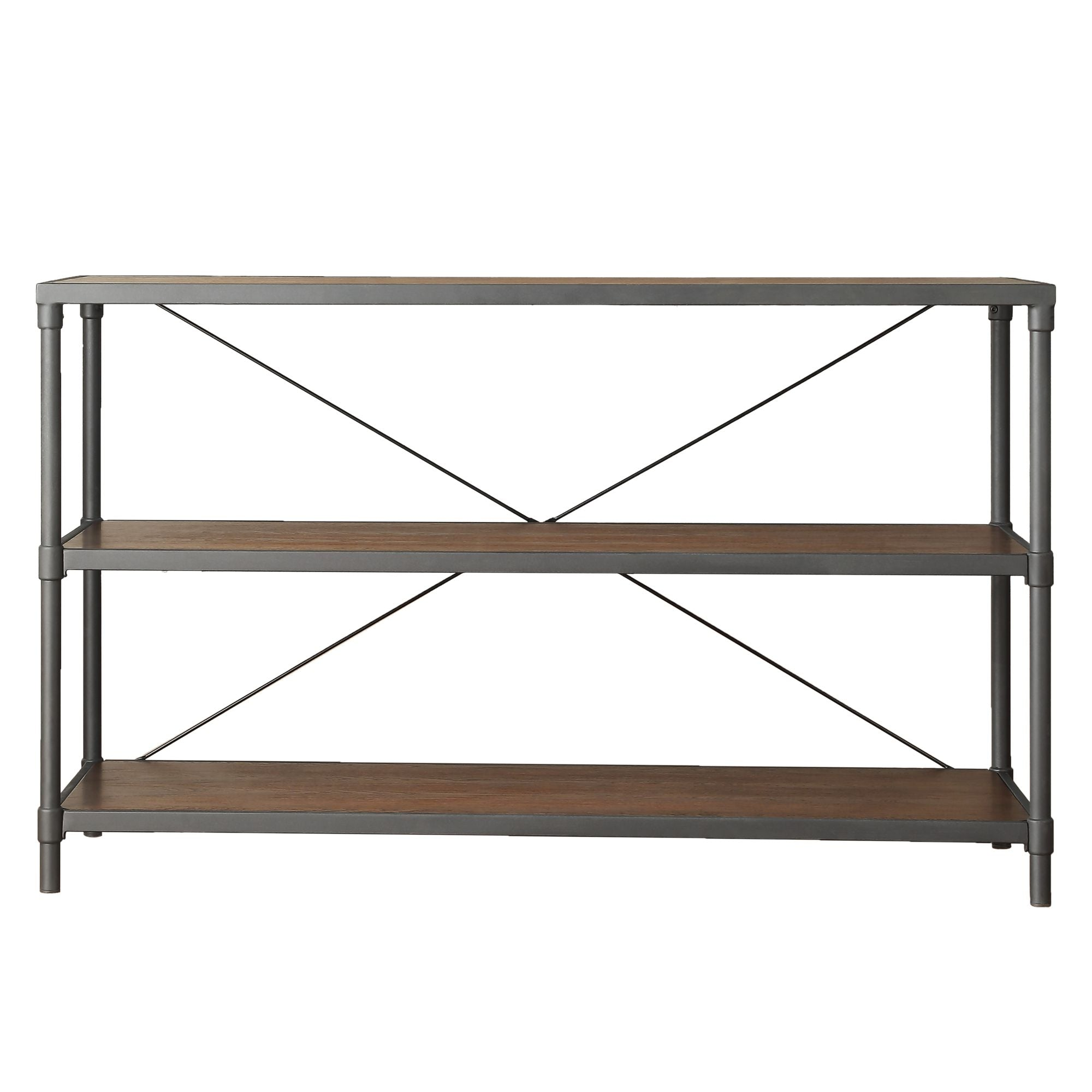 Industrial Rustic Pipe Frame TV Stand Console Table