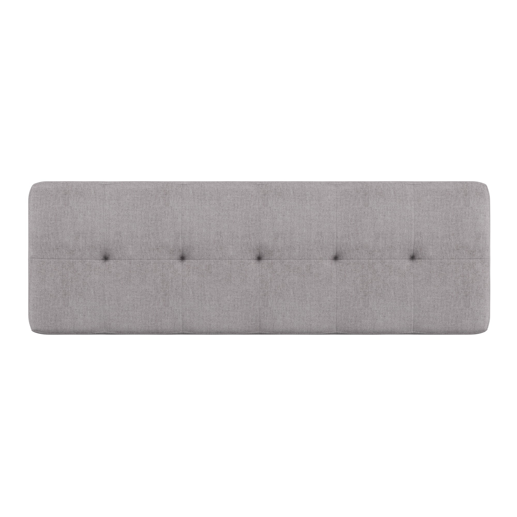 Oak Angled Leg Linen Dining Bench - Grey