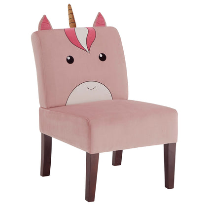 Velvet Animal Accent Chair - Unicorn